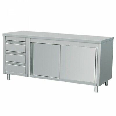 Commercial Stainless Steel Bench Cabinet Food Prep Ddcl-6-1800