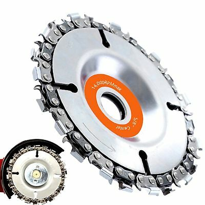 """4 """"Grinder Wood Carving Disc Chain Fine Chainsaw 22 Tooth 5 / 8inch Center Hole"""