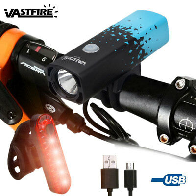 Mountain Bicycle Waterproof Front Light T6 LED 800LM Bright Head Lamp USB Charge