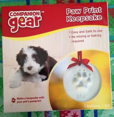 Companion Gear*Paw Print Keepsake*Christmas*Air Drying Clay Ornament*Dog*Cat*NEW