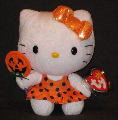 TY HELLO KITTY HALLOWEEN BEANIE BABY - 2013 - MINT with MINT TAGS
