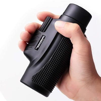 10X42 High Power Compact Monocular for Adults (Black)