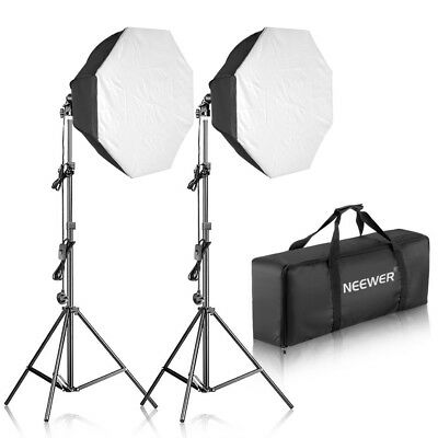 """Neewer 700W Studio Light Kit (2*85w) with Stand 32x32"""" Softbox and Carrying Bag"""