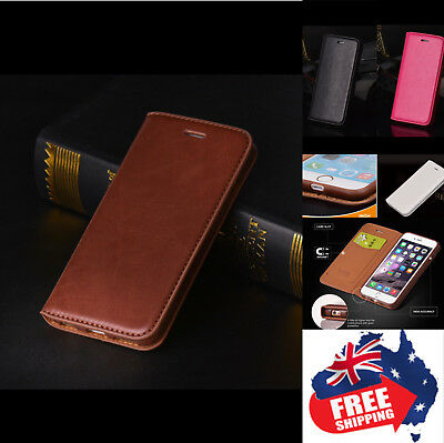 New Magnet Card Wallet Flip PU Leather Phone Case Cover For iPhone Samsung 1pc