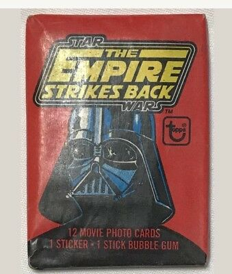 (1)Topps 1980 STAR WARS-Empire Strikes Back Unopened Wax Pack Cards-Red Series 1