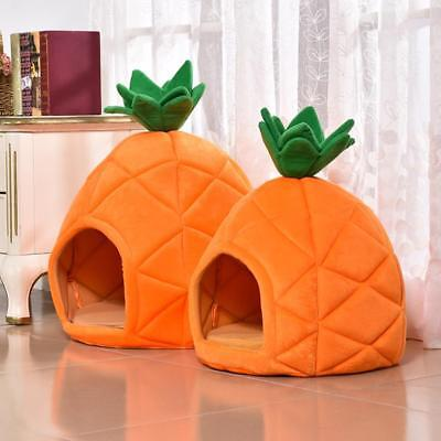 Pet Small Dog Cat House Nest Cute Pineapple Shaped Puppy Kennel Sleeping Bed