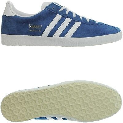 lowest price 0c2c7 ab9e6 Adidas Gazelle OG blau weiß Herren Wildleder Low-Top Sneakers Retro  Freizeit NEU