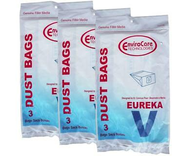 9 Eureka 52358, 52358B, 154SW Style V Canister Vacuum Bags EnviroCare