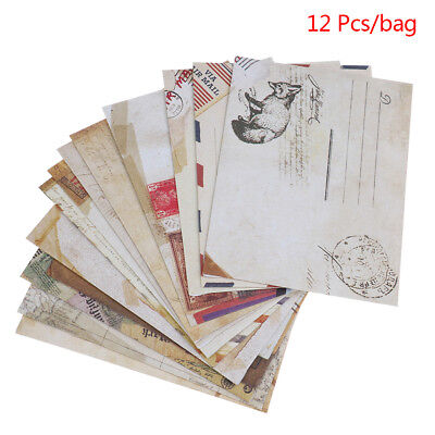Mini`Cute Ancien Papers Envelope Retro Vintage Style`For Card Scrap booking Gift