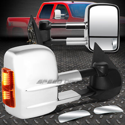 Power Chrome Heat Signal Towing +Safe View Blind Spot Mirror For 97-03 Ford F150