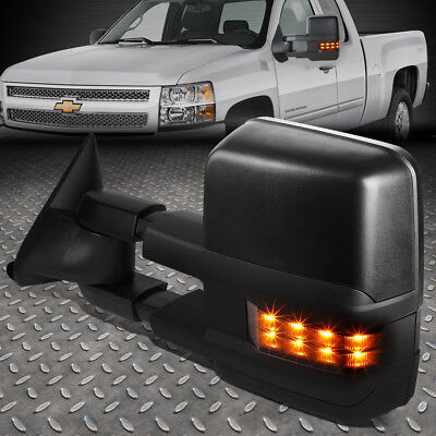 For 88-02 Chevy Gmc C/k Left Side Powered+Smoked Led Signal Tow Towing Mirror