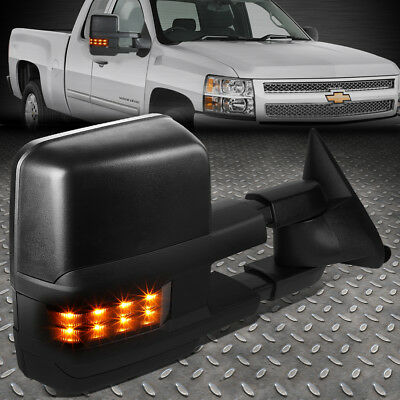For 88-02 Chevy Gmc C/k Right Side Powered+Smoked Led Signal Tow Towing Mirror