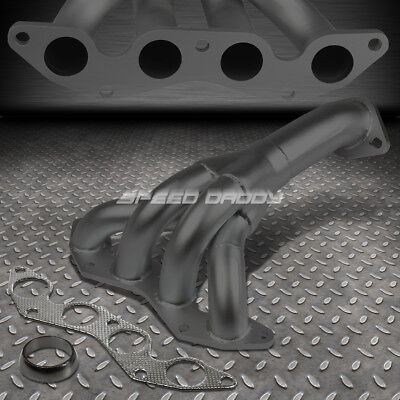 For 01-05 Honda Civic Dx/lx D17A1 1.7L Stainless Black Header Exhaust Manifold