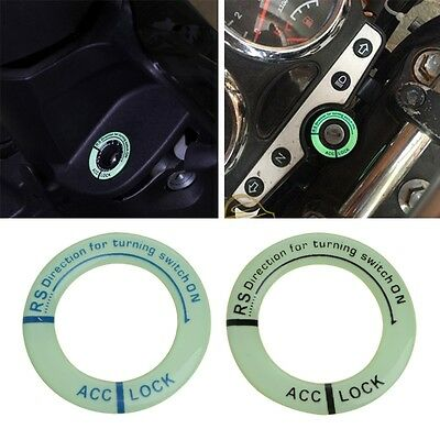 Car Motorcycle Glow Lumunous Ring Key Hole Sticker Ignition Switch Cover Decal