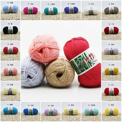 Multicolors Crochet Soft Cotton Knitting Wool milk fiber Natural Yarn for Scarfs