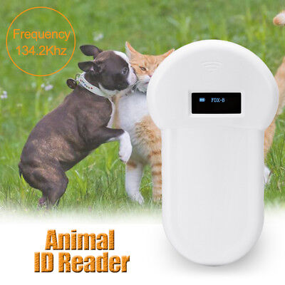 RFID 134.2Khz ISO FDX-B Animal Pet Dog Reader Microchip Handheld Ear Tag Scanner