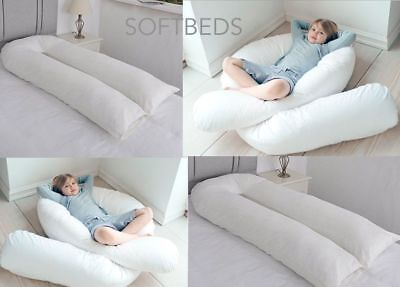 12Ft Comfort U Shaped Pillow Full Body Maternity Pregnancy Support