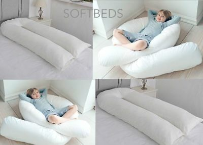 NEW 12Ft Comfort U Shaped Pillow Full Body Maternity Pregnancy Support