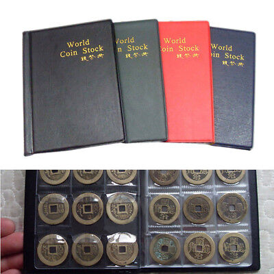 120 Coin Collection Holders Storage Money Penny Pocket Album Book Folder Case x1