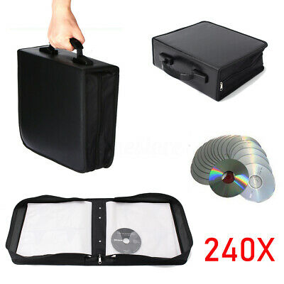 240 Disc CD DVD Bluray Storage Holder Solution Binder Book Sleeves Carrying Case
