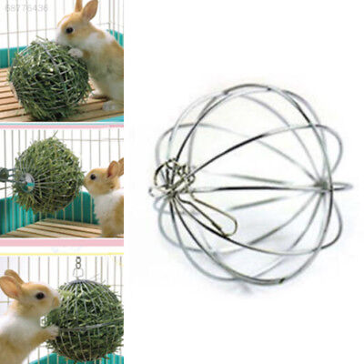 0734 Feed Dispense Exercise Hanging Hay Ball Guinea Pig Hamster Rabbit Pet Toy
