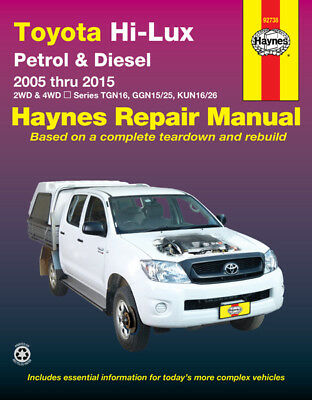 Toyota Hilux Repair Manual Haynes Manual Workshop Manual 2005-2015