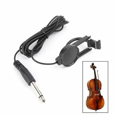 Clip-On Pickup For Acoustic Mandolin Guitar Bouzouki Violin Banjo Ukulele Lute