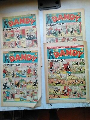 Dandy Comics 4 Issues From 1952   533/534/542/566