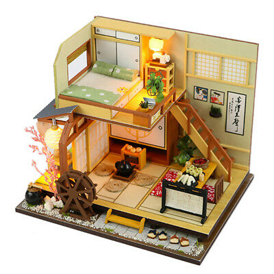 DIY Handcraft LED Wooden Dollhouse Miniature Furniture Kit Toy Doll House GiftNT