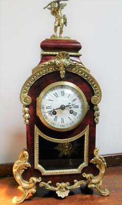 pretty victorian french striking mantel clock