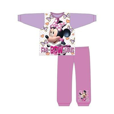 Girls OFFICIAL Minnie Mouse Pyjamas Set Size 18m-5 Years