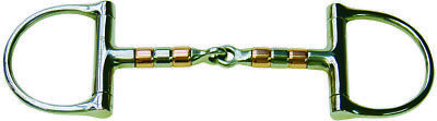 Protack Bit D-Ring S/steel & Copper Roller Snaffle