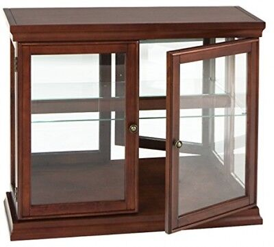 Southern Enterprises Double Door Curio With Mirrored Back Wall, Classic Finish