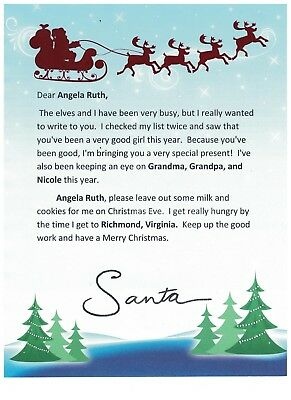 Children's Personalized Christmas Letter from Santa Claus