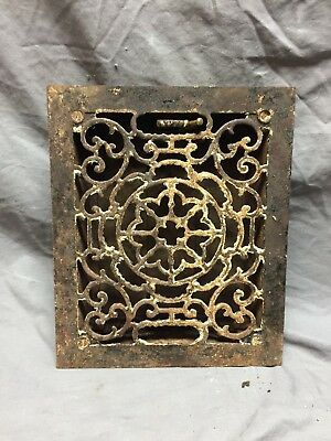 Antique Cast Iron Decorative Floor Register Heat Grate 8X10 Old Vintage 264-18C