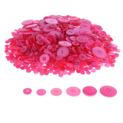 1000pcs Round Resin Buttons Bulk Assorted Size 2/4 Holes Sewing Buttons DIY