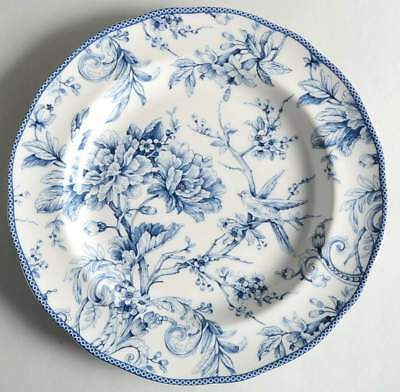 222 Fifth ADELAIDE BLUE & WHITE Chop Plate (Round Platter) 10099974