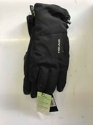 HEAD UNI SKI Gloves with DuPont Sorona Insulation Glove (BLACK, MEDIUM)