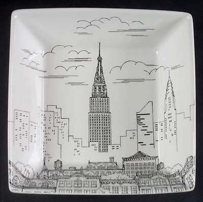 222 Fifth CITY SCENES-BLACK New York Soup Cereal Bowl 7300343