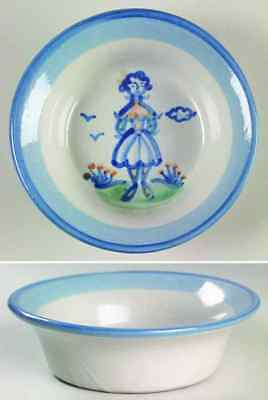 M A Hadley COUNTRY SCENE BLUE Wife Ramekin 5813651