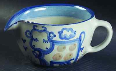 M A Hadley COUNTRY SCENE BLUE Cow Open Sauce Boat 6999700