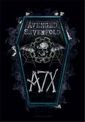 """AVENGED SEVENFOLD  Rock flag/ Tapestry/ Fabric Poster A7X  """"Coffin""""    NEW"""