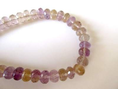 Natural Ametrine Gemstone Faceted Rondelle Beads 7.5-8mm 8 Inch Strand - GDS1120