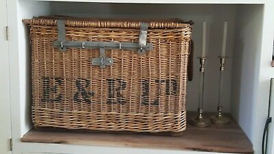 Antique French Wicker Shipping Trunk - Large - Rare - Collection Piece