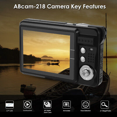 "2.7"" LCD HD Fotocamera Digitale 21MP Anti-Shake Smile Capture Camcorder LF810"