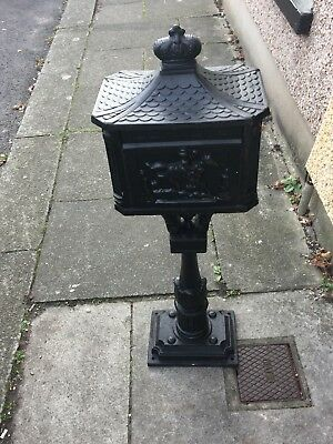 Cast Iron letter box -freestanding outdoor post box