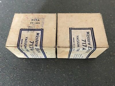 one pair (2) Western Electric 717A/VT269, true NOS/NIB, milspec, sealed boxes