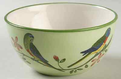 Lynn Chase PARROTDISE (EARTHENWARE) Soup Cereal Bowl 8602813