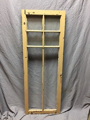 Antique 6 Lite Casement Door Window Cabinet Cupboard 20X56 Vintage Old 270-18C