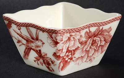 222 Fifth ADELAIDE MAROON Individual Square Appetizer Bowl 10383775